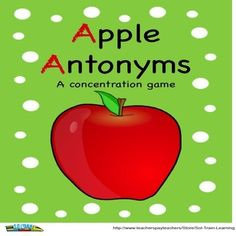 This fun game will help your kids practice their antonyms. It is played like concentration.  Included: -44 antonym cards, 22 pairs -Answer key -Teacher Guide Grab it in our Dollar Store!
