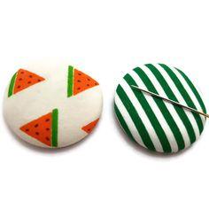 Watermelon-Melon Needle Minder-Reversible Needleminder-Magnetic-Cross Stitch-Embroidery-Sewing-Needlepoint-Fruit Needle Minder-Craft Supply
