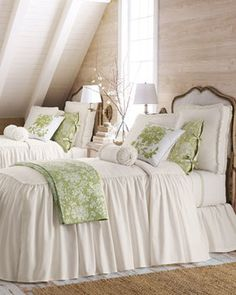 Legacy Home King Hampton Dust Skirt - traditional - bedskirts - Horchow
