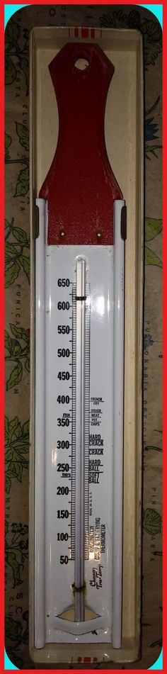 Vintage Chaney Tru-Temp Thermometer Candy Fat by TheMaineCoonCat