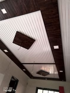 Discover recipes, home ideas, style inspiration and other ideas to try. Wooden Ceiling Design, Drawing Room Ceiling Design, Simple False Ceiling Design, Gypsum Ceiling Design, House Ceiling Design, Ceiling Design Living Room, Bedroom False Ceiling Design, Pvc Wall Panels Designs, Wall Panel Design