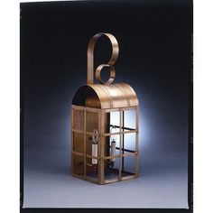Northeast Lantern Adams 1 Light Outdoor Wall Lantern Finish: Antique Brass, Shade Type: Clear