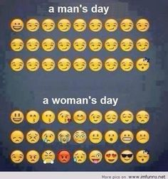 Man's day vs woman's day