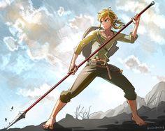 Spear - Link #ZeldaBotW by @min0min6