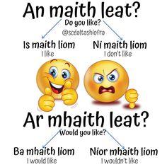 Learning Languages Tips, Gaelic Words, Irish Language, Grammar, Teaching Resources, Ireland, Education, Kids, School Ideas
