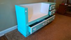 Alice Woods-smith shares how she transformed an old dresser into a seating bench Refurbished Furniture, Repurposed Furniture, Furniture Makeover, Diy Furniture, Dresser Makeovers, Vintage Furniture, Bedroom Furniture, Outdoor Furniture, Dresser Bench