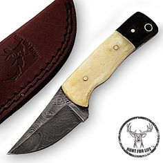 Hunt For Life Spring Caverns Outdoor Damascus Skinner Knife -- Want additional info? Click on the image. Fixed Blade Hunting Knives, Damascus, Spring, Image, Life, Outdoor, Outdoors, Damask, Outdoor Games