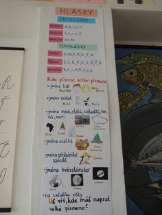 Tady lepím plakáty s učivem....a nejen tady