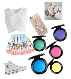 """""""Alice wonderland 🐰"""" by gisselleotero on Polyvore featuring Chicwish, Monnalisa, My Little Thing, Converse, Casetify and MAC Cosmetics"""