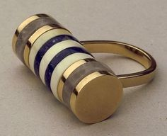 Vintage inlay ring by Italian architect Ettore Sottsass #inspiration
