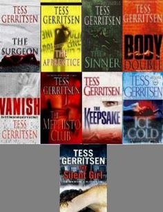 Tess Gerritsen's Rizzoli and Isles series not sure where you wood find them but good luck one of too books wood be fine!