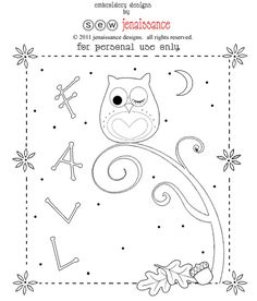 fall owl pattern!  All rights reserved by sewjenaissance.