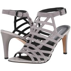 Franco Sarto Spruce (Charcoal Grey) Women's Shoes (74 CAD) ❤ liked on Polyvore featuring shoes, sandals, grey, leather sandals, grey leather shoes, genuine leather shoes, grey leather sandals and franco sarto sandals