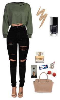 """Untitled #265"" by jordannicole0304-1 on Polyvore featuring WithChic, Michael Kors, ZeroUV, Givenchy, Ilia and Urban Decay"
