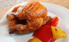 Pollo marinato in cottura indiretta