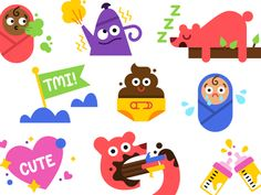 Glow Stickers by Laura Bohill - Dribbble