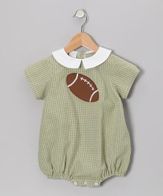 ce2af38da Take a look at this Green Plaid Football Bubble Bodysuit - Infant by Betti  Terrell on today!