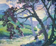 "Daily Paintworks - ""Morning Along Ridge Creek Moorcroft Musings Series"" - Original Fine Art for Sale - © Alida Akers"
