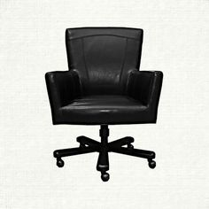 View the Colette Black Desk Chair from Arhaus. Sleek and sophisticated, yet completely understated with its baseball topstitching, the Colette desk brown leather