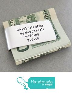 Money clip father of the bride wedding gift - Bride's gift for dad from Belvidesigns http://www.amazon.com/dp/B01DVI90QC/ref=hnd_sw_r_pi_dp_EZ0nxb0XX8SZC #handmadeatamazon