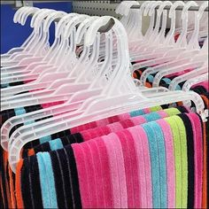 See a new approach to Summer Sales in the form of Oversize Beach Towel Hanger Merchandising. And the use of Clothes Hangers on Bar-Mount Scan Hooks allows Retail Fixtures, Store Fixtures, Towel Display, Towel Hanger, Oversized Beach Towels, Merchandising Displays, Clothes Hanger, Boutique Ideas, Luxembourg