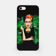 Frida Kahlo – iPhone Case at Live Heroes by Pia Kolle