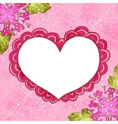 Flower background with doodle heart vector - by kostolom3000 on VectorStock®