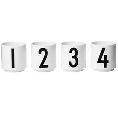 Arne Jacobsen espressokupit, 4 kpl
