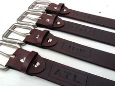 These personalized leather belts from AniseLeather are are a great option for groomsmen gifts.