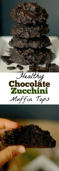 Love muffin tops? Make these Dark Chocolate Chunk Zucchini Muffin Tops! No need to waste the bottom with this recipe! Super simple, and secretly healthy!