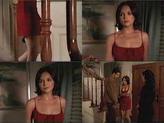 shes all that red dress Basic Outfits, Date Outfits, 90s Fashion, Fashion Show, Fashion Outfits, She's All That Movie, Movies To Watch Teenagers, Rachel Leigh Cook, 90s Prom
