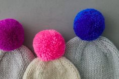 Knitting Patterns Free, Free Knitting, Lotus Flower Colors, Pom Pom Tutorial, Earflap Beanie, Flap Hat, Pom Pom Maker, Purl Soho, Pink Kids