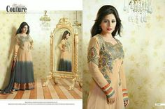 Semi stitched anarkali with resham embroidery @2499 http://www.themagicalthread.com/products-page/designer-suits/