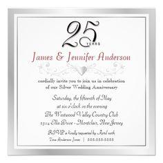 25th Wedding Anniversary Party Invitations Anniversary Party Invitations, Wedding Invitation Design, 25th Anniversary,