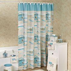 Beach Cruiser Coastal Shower Curtain