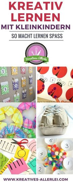 So lernen Kleinkinder kreativ kreativ-lernen The post So lernen Kleinkinder kreativ appeared first on Adventskalender ideen. Games For Kids, Diy For Kids, Activities For Kids, Crafts For Kids, Kindergarten Portfolio, Kindergarten Math, Baby Co, Baby Kids, Toddler Learning