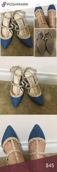 Denim heels Brand new Shoes Heels