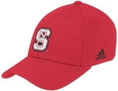 NCAA North Carolina State Wolfpack BL Flex Fit Hat (Red, Large/X-Large) adidas. $8.89