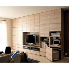 リフォームしたような美空間が叶う収納システム家具。毎日の使いやすさを考えた仕様だから日々の暮らしに馴染みます。オーダーメイド感覚で組み合わせて、充実の壁面収納に。[パモウナ CA-800]