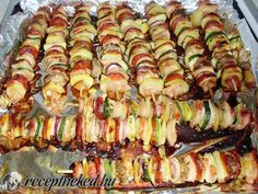 Pulykasaslik Grill Party, Ratatouille, Asparagus, Grilling, Bacon, Recipies, Health Fitness, Food And Drink, Cooking Recipes