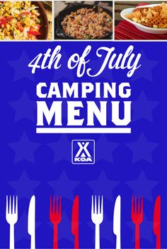 4th of July Camping Menu from KOA