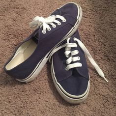 Ralph Lauren shoes Navy blue. White shoe laces. Cute with dressy, or casual outfit. Polo by Ralph Lauren Shoes Sneakers