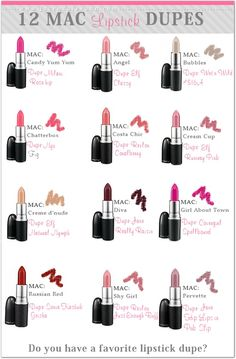 12 Mac lipstick dupes I would only love to have those that would look good on me. Thank you! ;)