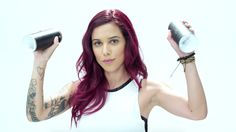 http://lopusa.tv/feria Watch as street artist Tati Suarez transforms blank walls into art in her V48 Violet Vixen Feria hair color. Follow the color transfor...