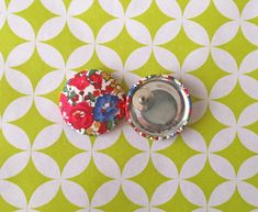 Fabric Button Earrings / Wholesale Jewelry / by ManhattanHippy