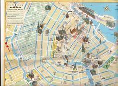 Tourist map of Venice city centre Italy Pinterest Venice city