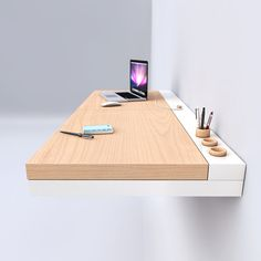 suspended desk