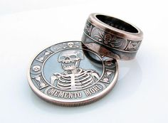 Memento Mori Coin Ring The Last Laugh Handcrafted 1oz