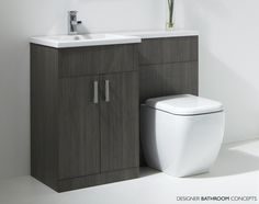 Our selection of bathroom furniture sets contains toilets, basins, and storage in various combinations. Take the stress out of your bathroom redesign today. Loft Bathroom, Bathroom Toilets, Bathroom Layout, Modern Bathroom Design, Bathroom Storage, Bathroom Laundry, Sink Toilet Combo, Toilet Sink, Toilet And Sink Unit