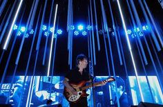 The award for the best concert light show ever Radiohead